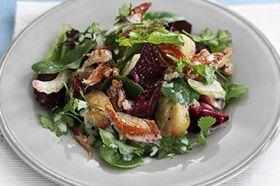 Mackerel and beetroot salad
