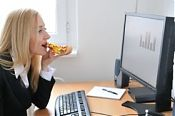 Eating at the computer